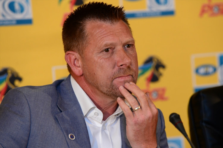 Eric Tinkler (Coach of SuperSport United) during the SuperSport United press conference at PSL Offices on October 11, 2017 in Johannesburg, South Africa.