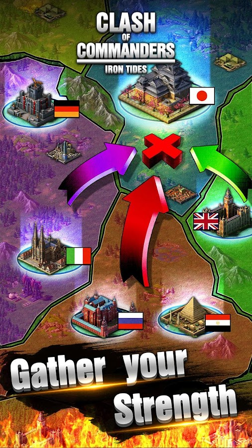 Screenshots of Clash of Commanders-Iron Tides for iPhone