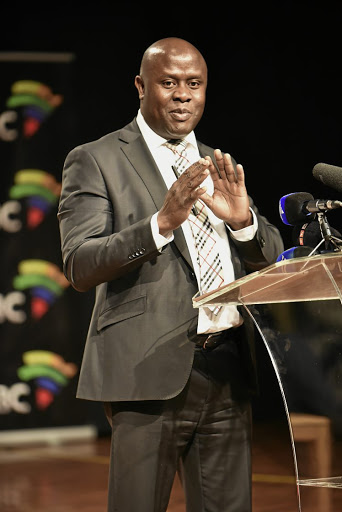Risk of insolvency:  SABC acting CEO James Aguma, and former chief operating officer Hlaudi Motsoeneng were singled out several times in the ad hoc committee's report for abusing their power. Picture: FREDDY MAVUNDA