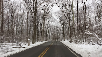Photo: Sat. Mar. 21 2015 on road to W4RX, early morning snow