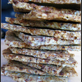 Paleo Onion Sesame Crackers