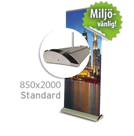 Roll up, Standard 850x2000mm, inkl printad bildvåd