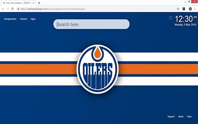 Edmonton Oilers Backgrounds & New Tab