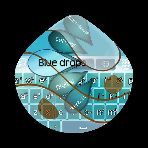 ブルー滴Burū shizuku GO Keyboard 個人化 LOGO-玩APPs