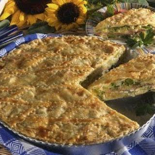 Porree-Blätterteig-Kuchen