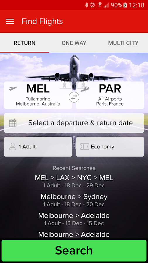 Webjet - Flights and Hotels- screenshot