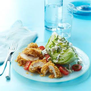 Crispy Chicken Salad with Buttermilk Blue Cheese Dressing.