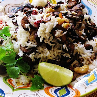 Mushroom Pilaf With Toasted Nuts And Cranberries