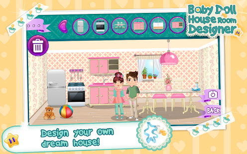 Baby doll house room designer android apps on google play for Baby rooms decoration games