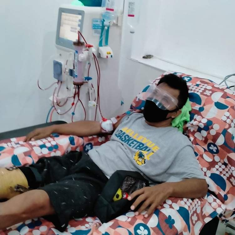 Ronaldo receiving dialysis and diabetic medication