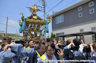 Photo: 【平成27年(2015) 本宮】 田中地区 氏子廻り。い組女子が先を取る