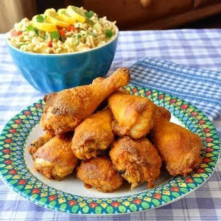 Barbecue Spice Oven Fried Chicken.