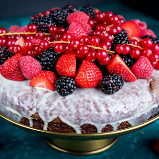 Chocolate Cake with Fresh Berries Recipe