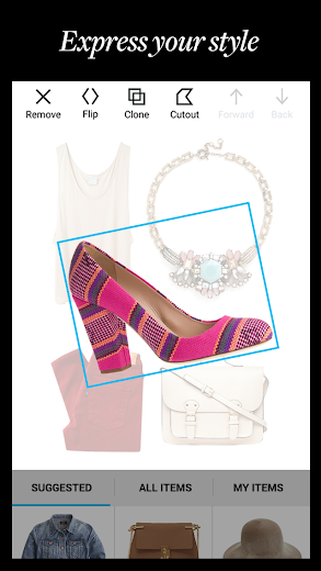 Screenshot 3 for Polyvore's Android app'