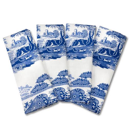 Blue Italian Servett / Handduk 4-pack