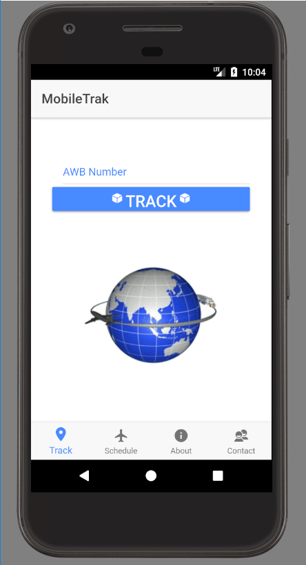 MobileTrak- screenshot