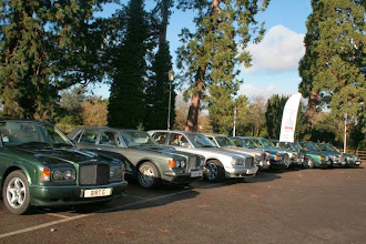 Photo: Club cars aligned in the sunshine