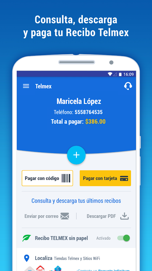 Telmex- screenshot