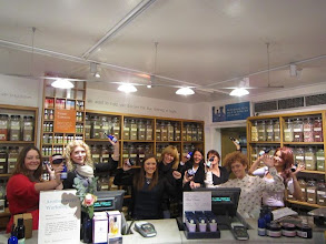 Photo: Neal's Yard team doing the Fairtrade step!