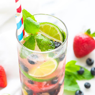 Blueberry Strawberry Mojito
