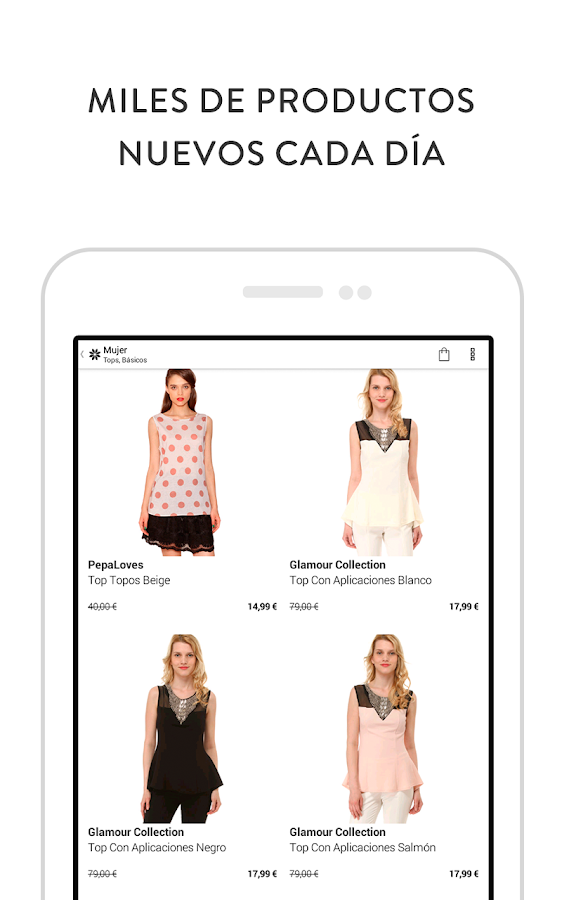 Privalia, outlet moda online - screenshot
