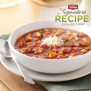 Hunt's® Fire-Roasted Tomato Vegetable Soup.