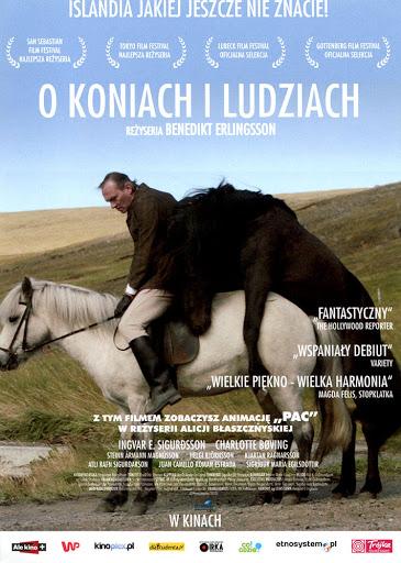 Przód ulotki filmu 'O Koniach i Ludziach'
