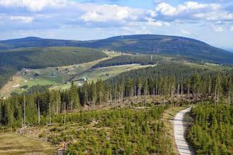 Photo: Černá hora (1299 m) z rozhledny Hnědý vrch (1205 m)