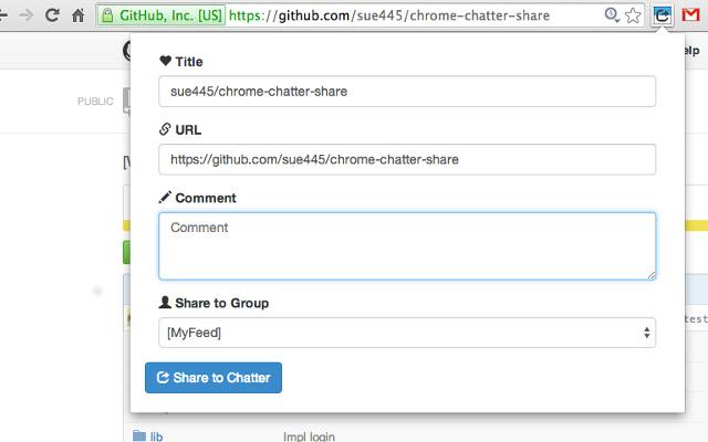 Chatter Share for Google Chrome™