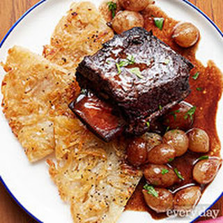 Red Wine-Braised Short Ribs with Rosti Potatoes