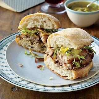 Crispy Pork Belly Sandwiches with Meyer Lemon Relish.