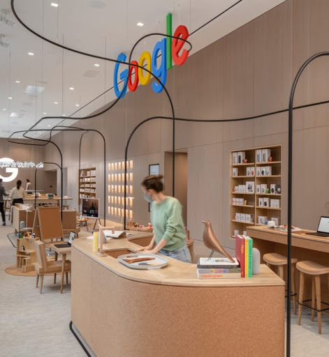 Interior shot of the new Google Store in New York City