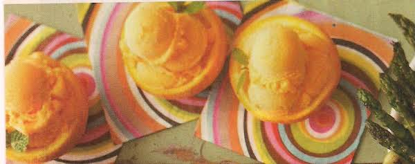 Orange Sherbet In Orange Shells Recipe