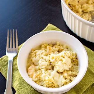 Cheesy Garlic Shrimp Quinoa.