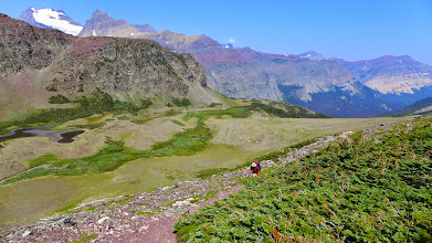 Photo: Murray on the trail to Red Gap Pass