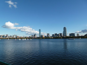 Photo: A little regatta in front of the Boston skyline.