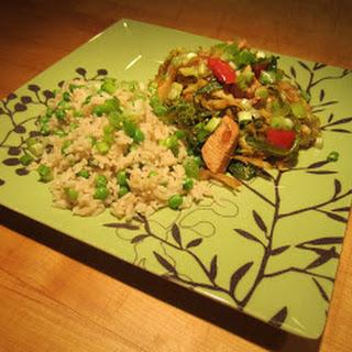 Sesame Chicken & Napa Cabbage Stir-Fry.