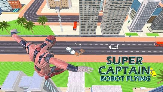 Superhero Captain Robot Flying Newyork City War 4