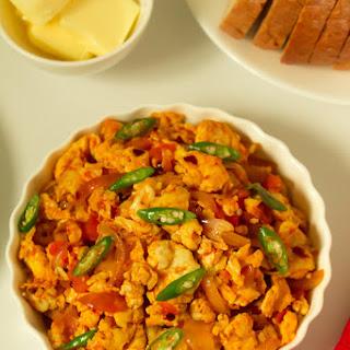 Spicy Scrambled Eggs ( Sri Lankan Style)