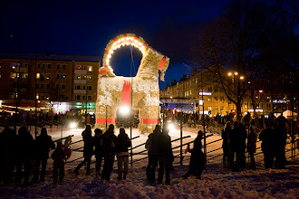 Photo: The famous Gävle Christmas goat