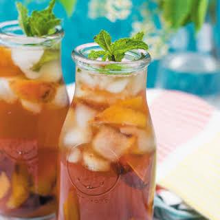 Easy 4 Ingredient Peach Iced Tea.