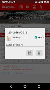 český kalendář 2017 - náhled