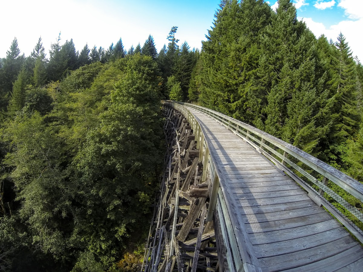 Crossing the first wooden bridge - Charters Creek Trestle
