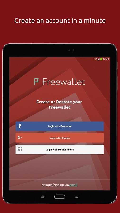Freewallet: Bitcoin, Ether, Monero Multi Wallet🔗- screenshot