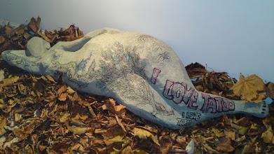 Photo: elżbieta chojak-mysko; myśko; chojak; london exhibition; tomek; rickshaw house; art; cztery pory roku; four seasons of the year; galleria; gallery; baba na liściach