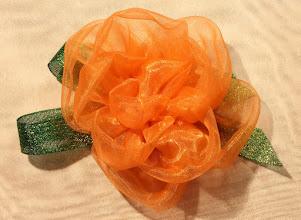 Photo: Розочка из вуали..цвет голландской королевы... Цветы из ткани своими руками, Татьяна, Самара -