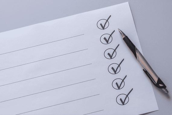 A imagem mostra um checklist em branco. Serve apenas para ilustrar nosso passo a passo para o AFE Anvisa