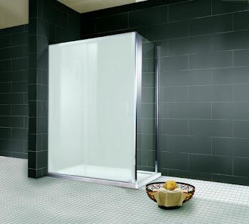 Paroi latérale fixe pour porte de douche coulissante, 75, 80 ou 90 cm, (2 ou 4 éléments)