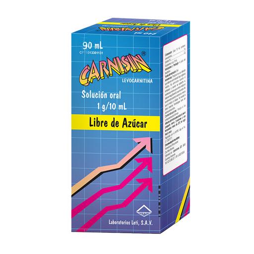 L-Carnitina Carnisin 1g/10ml 90ml Solucion