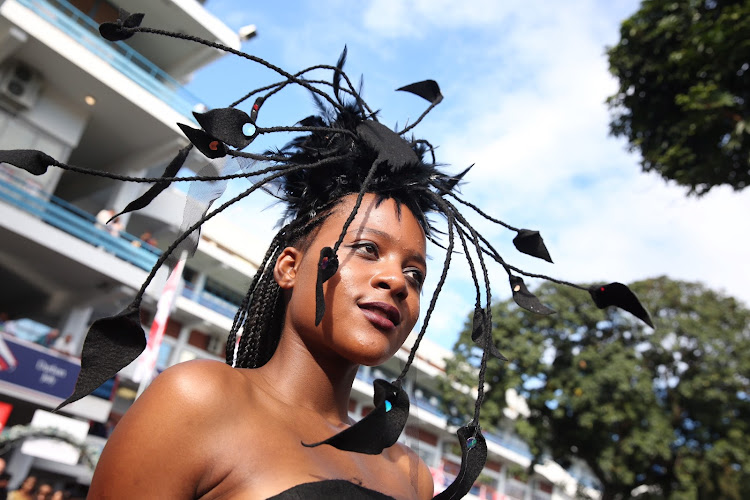 Snethemba Zondi at the Vodacom Durban July.